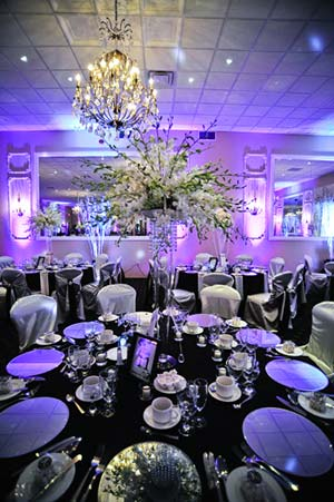 Tall Flower Centrepiece in Banquet Hall