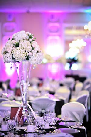 Tall Flower Centrepiece in White