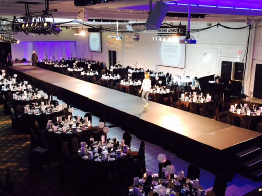 Runway at Corporate Event special set up