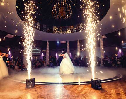 Wedding First Dance at Le Dome with Fireworks