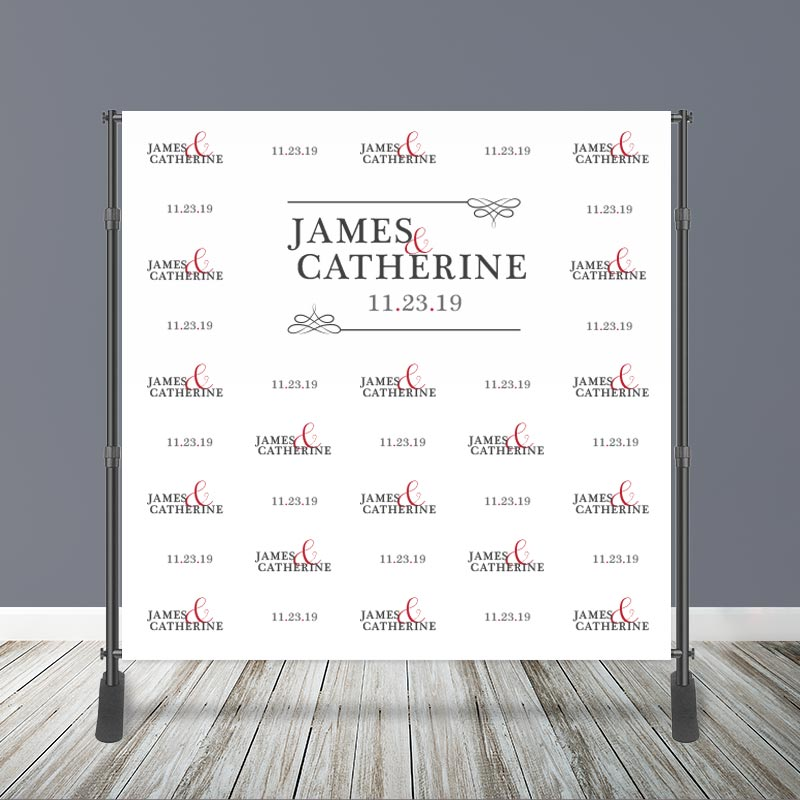 8' x 8' Wedding Step & Repeat Backdrop