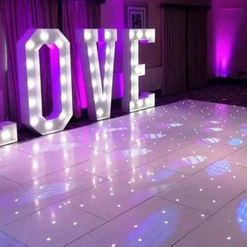 Close up of LED Dance Floor 10'