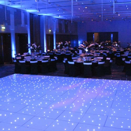 Close up of LED Dance Floor 20'