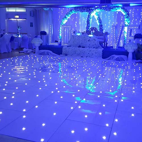 Close up of Blue LED Dance Floor