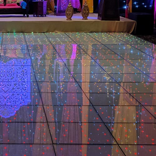 Close up of Multicolour LED Dance Floor