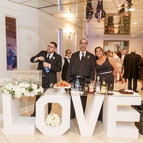Marquee Love Letter set up outside wedding reception