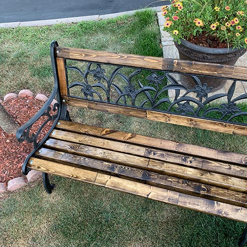 Cast Iron Bench for rent
