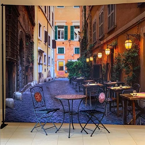 Italy Backdrop with Bistro Table Set