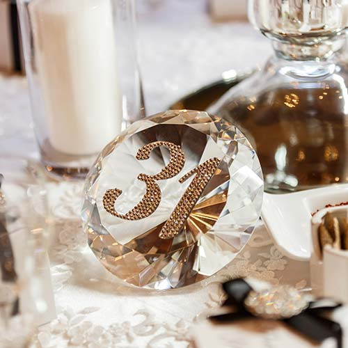 Diamond shaped table numbers