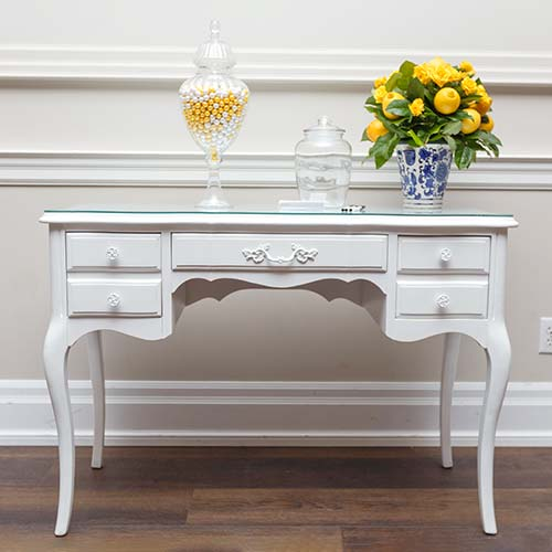 Vintage White Desk for rent with props
