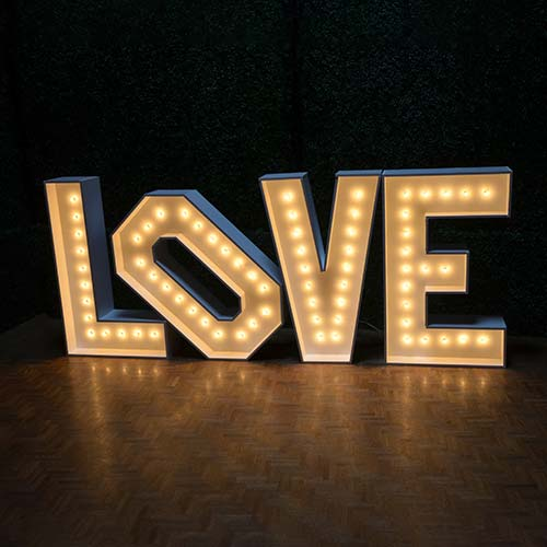 Love Letters with lights