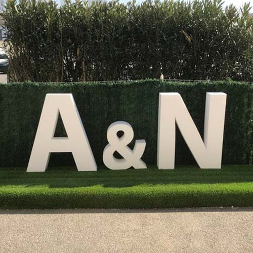 Large Custom Letters A & N