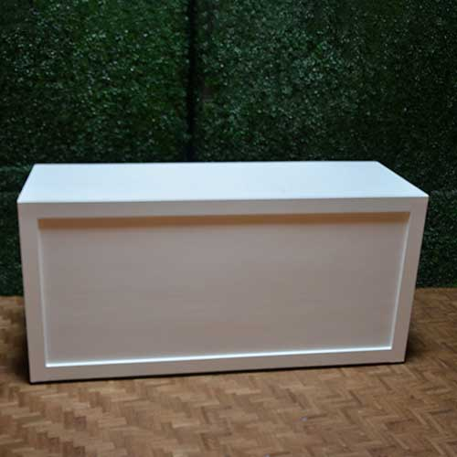White Portable Bar