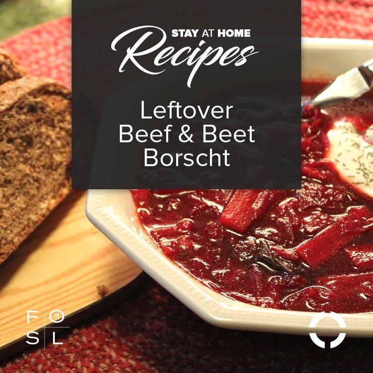 Leftover Beef & Beet Borscht