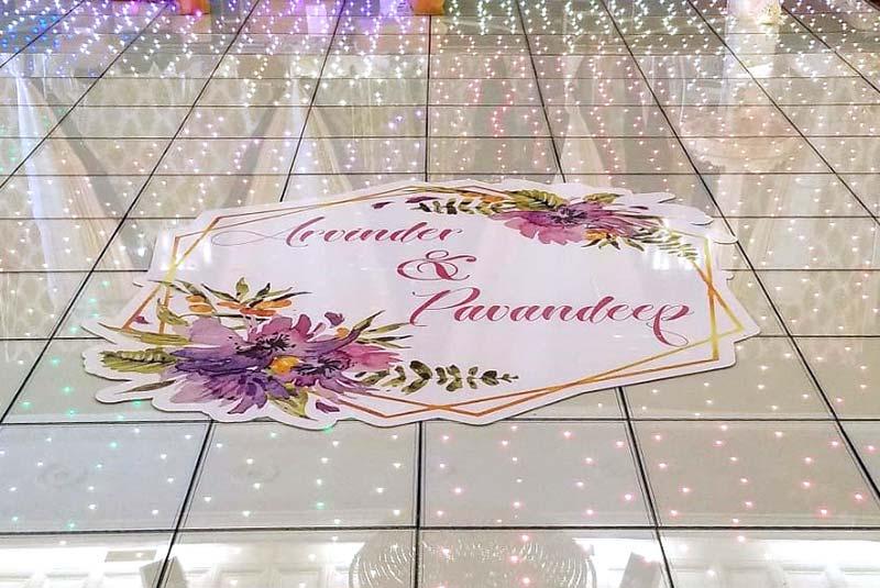 One Colour Vinyl Floor Wrap for Wedding