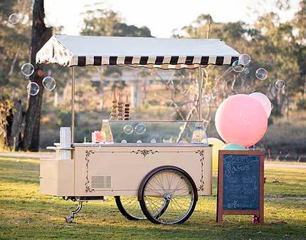 Vintage Gelato Cart in Park